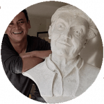 Carlos Avendaño, maestro de artes plásticas. Tunja, Boyacá.