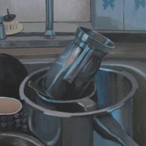 Obra: Ollas en el fregadero. Autor: Neil Avella. Duitama, Boyacá.