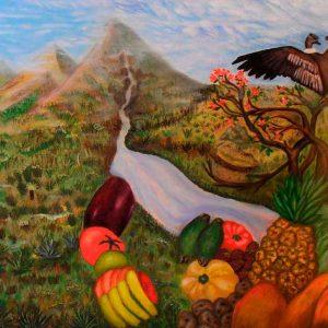 Obra: Reflexión de nuestros páramos de la madre tierra. Autor: Iván Jménez